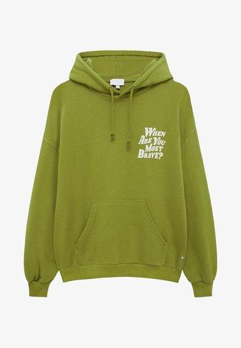 Motiv auf dem Rücken - Hoodie - green