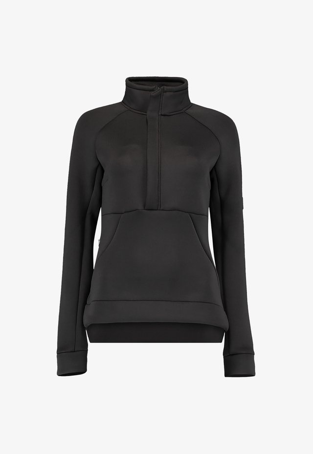 Fleece trui - black out