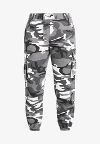 New Look Petite - CAMO UTLITY CUFF - Trousers - black - 4