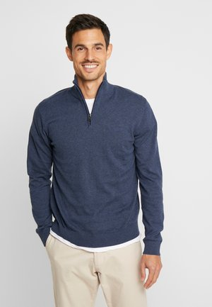 HALF ZIP - Neule - dark blue