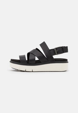SAFARI DAWN STRAP - Platform sandals - black