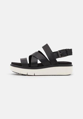 SAFARI DAWN STRAP - Platform sandals - black