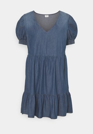 JDYBELLA LIFE V NECK DRES - Denim dress - medium blue