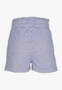 ONLY Petite - ONLSMILLA STRIPE BELT - Shorts - medium blue/white - 1