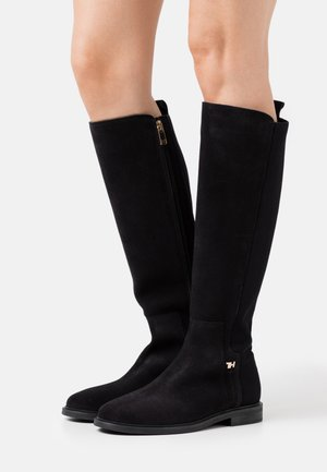 ESSENTIAL FLAT LONG BOOT - Vysoká obuv - black