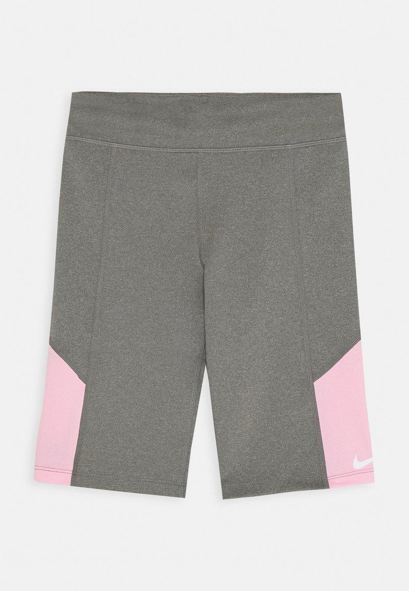 Nike Performance - TROPHY BIKE SHORT - Legginsy - carbon heather/pink
