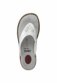 Jana - T-bar sandals - white - 1