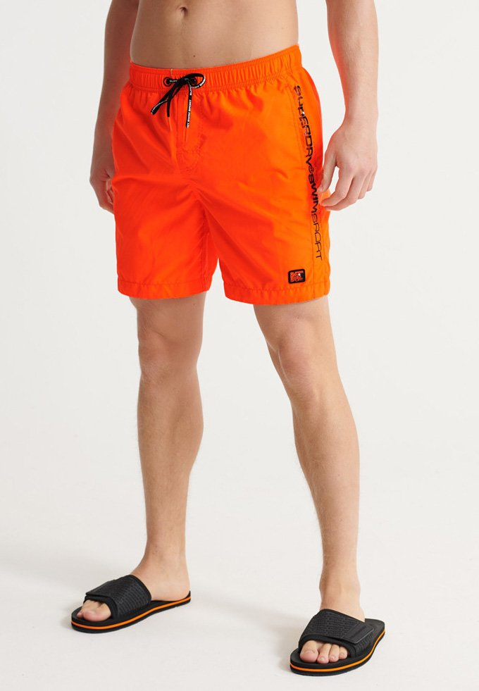 Superdry - SUPERDRY SWIMSPORT SHORTS - Swimming shorts - bright havana orange