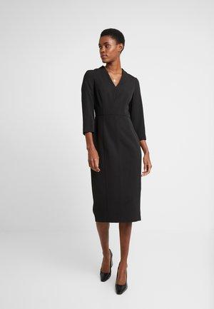 LONG SLEEVE V-NECK DRESS - Etuikjoler - black