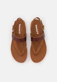 Timberland - MALIBU WAVES THONG - T-bar sandals - medium brown - 4
