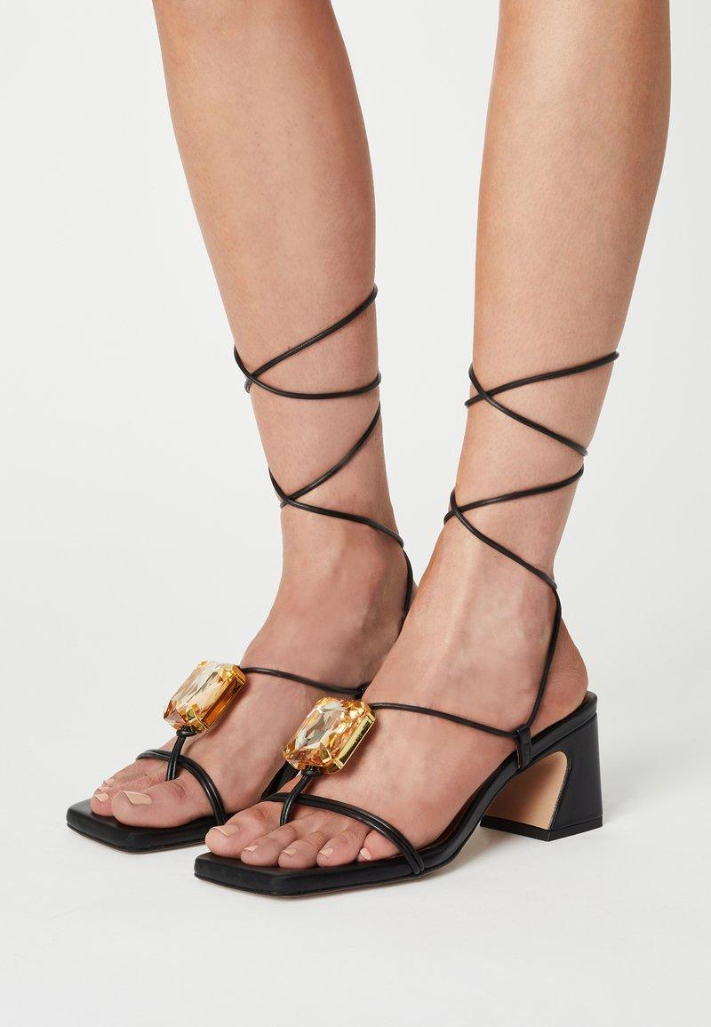 ÁNGEL ALARCÓN - T-bar sandals - black
