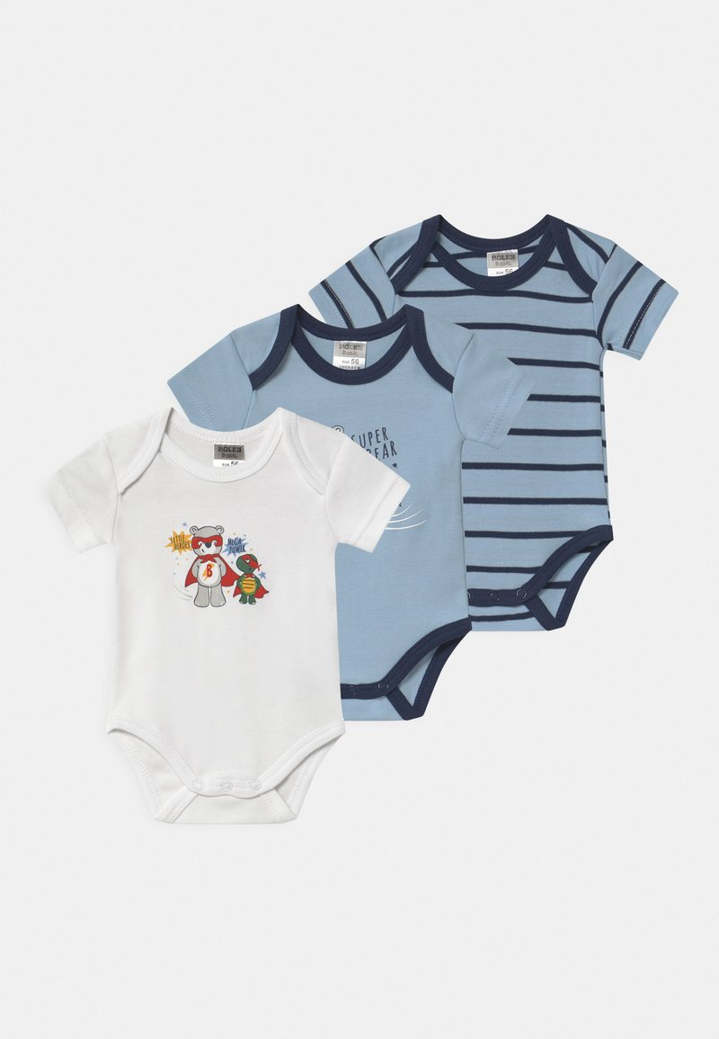Jacky Baby - KURZARM BOYS 3 PACK - Body - blue/white