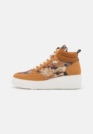 Sneakers hoog - camel/cuero