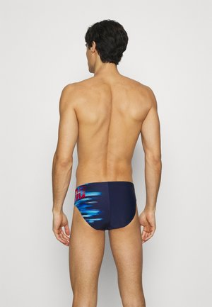 DRAWING - Swimming briefs - navy/multi