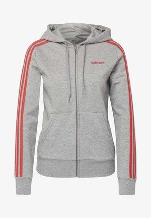 ESSENTIALS 3-STRIPES HOODIE - Zip-up hoodie - grey