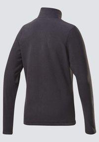 Reebok - OUTERWEAR QUARTER-ZIP TOP - Fleece jumper - black - 6