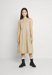 G-Star - FIT AND FLARE DRESS - Day dress - westpoint khaki - 0