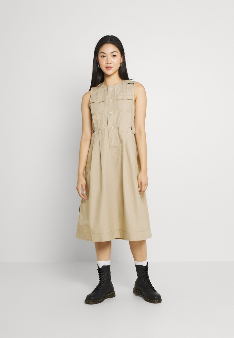 G-Star - FIT AND FLARE DRESS - Day dress - westpoint khaki