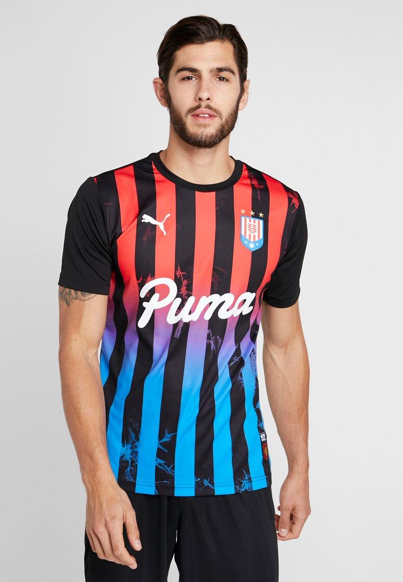Puma - T-shirt med print - puma black/poppy red