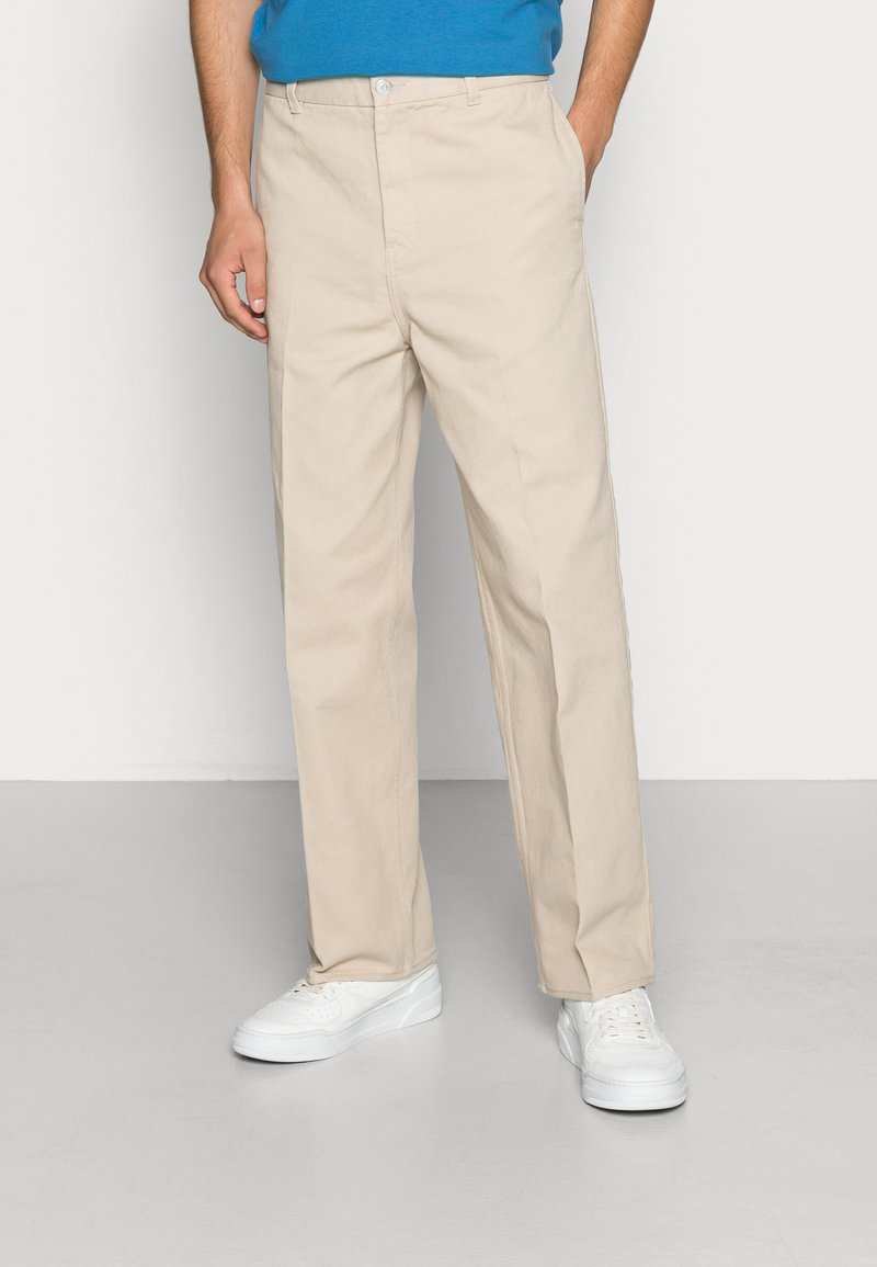 Weekday - ROSS WIDE TROUSERS - Chino - beige