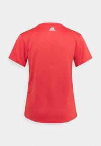 adidas Performance - LOGO TEE - T-shirts med print - crew red/white - 6