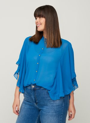 Button-down blouse - strong blue