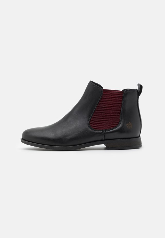 MANON - Ankle boots - black/bordo