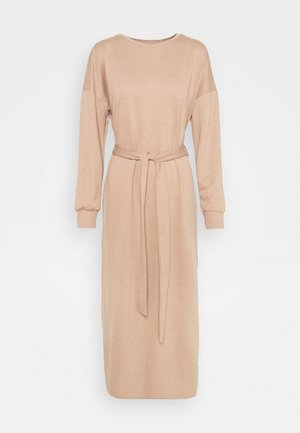 ONLHOLLIE LONG BELT DRESS - Kjole - burro