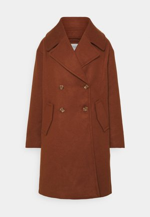 JDYSTORM BIG COLLAR JACKET  - Kåpe / frakk - cherry mahogany