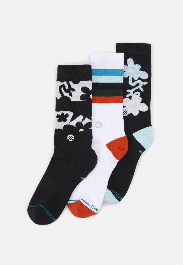 FUTURIST 3 PACK - Socks - black/white