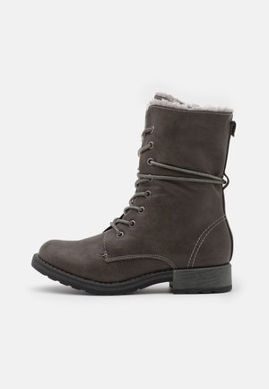 Lace-up boots - coal