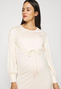 MAMALICIOUS - MLZARINA DRESS - Jersey dress - ecru - 3