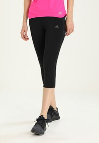 adidas Performance - 3/4 sports trousers - black/black - 0