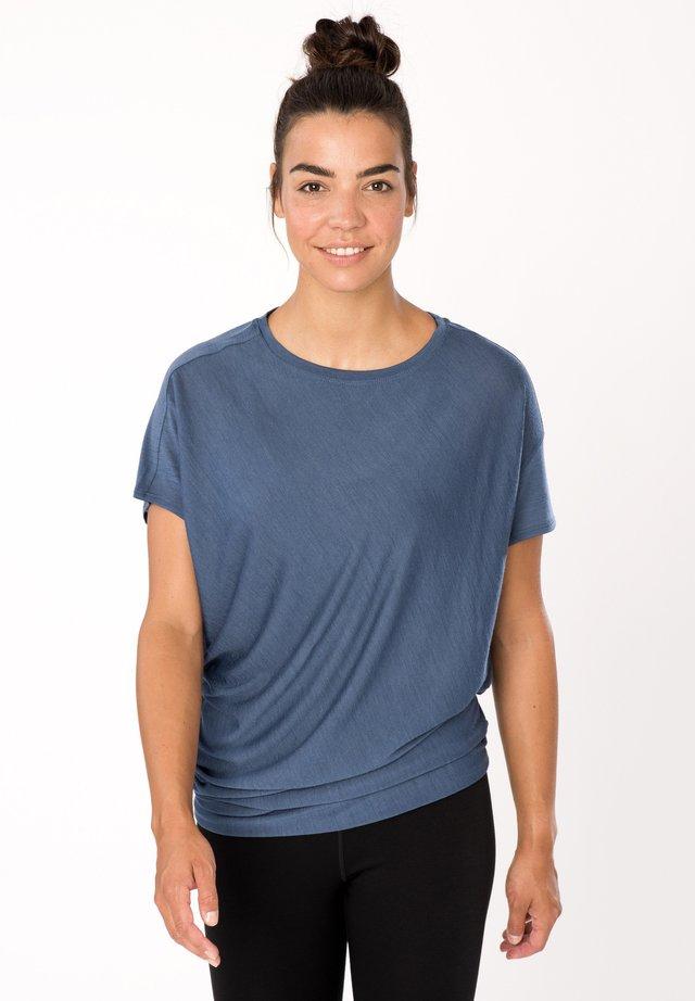 Print T-shirt - denim