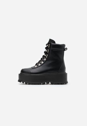 VEGAN HYDRA - Platform ankle boots - black
