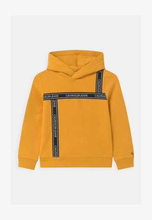 LOGO TAPE HOODIE UNISEX - Sweat à capuche - yellow