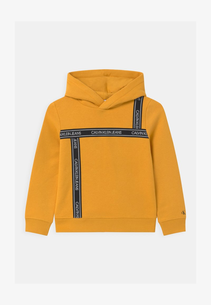 Calvin Klein Jeans - LOGO TAPE HOODIE UNISEX - Huppari - yellow