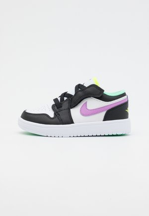 LOW ALT UNISEX - Basketball shoes - white/violet shock/black/green glow/volt