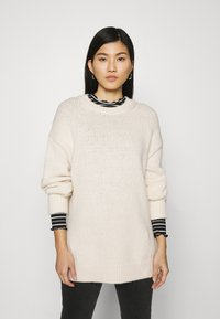 Marc O'Polo - LONGSLEEVE ROUND NECK - Pullover - off white - 0