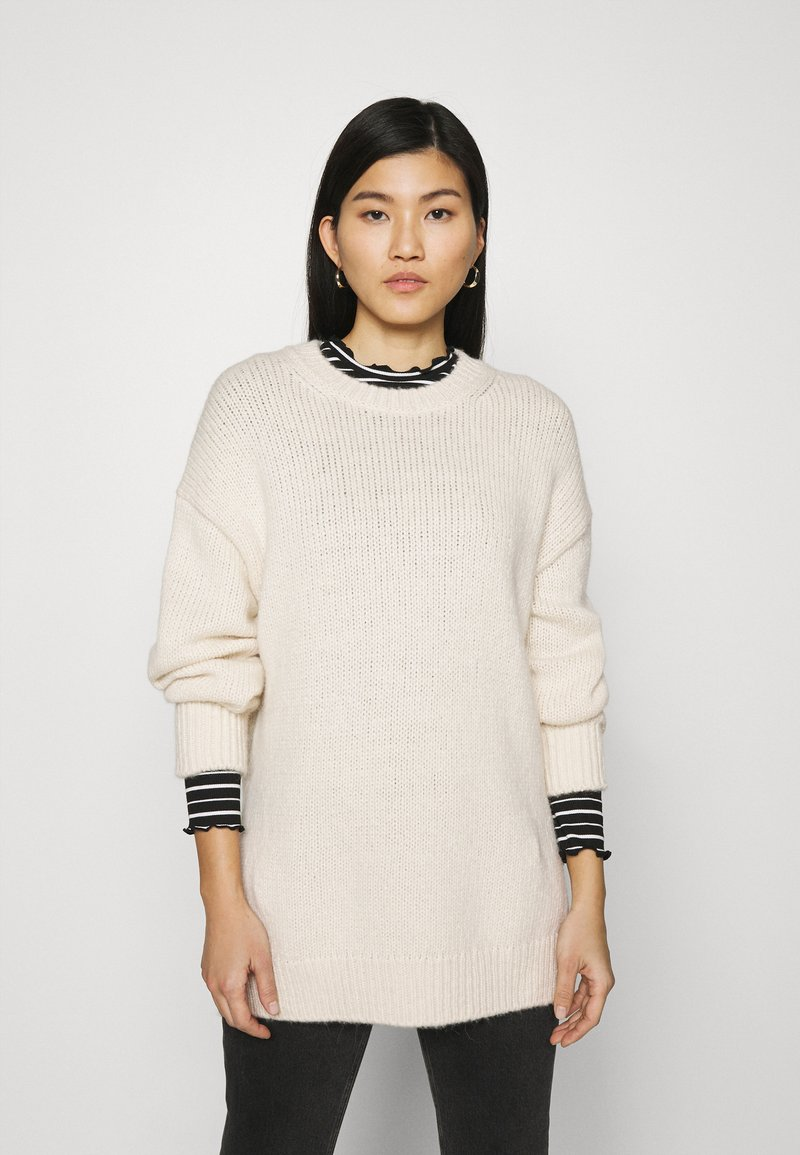 Marc O'Polo - LONGSLEEVE ROUND NECK - Pullover - off white