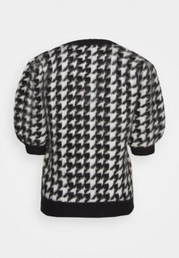 NA-KD - HOUNDSTOOTH SHORT BALLOON SLEEVE SWEATER - T-shirt imprimé - black/white - 1