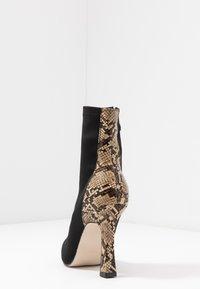 RAID - OLINIA - High heeled ankle boots - black/beige - 5