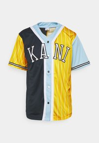 Karl Kani - COLLEGE BLOCK PINSTRIPE BASEBALL  - Print T-shirt - yellow - 4