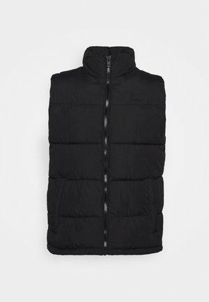 JJPAUL BODYWARMER COLLAR - Waistcoat - black