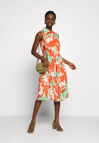 Closet - GATHERED DRESS - Day dress - orange