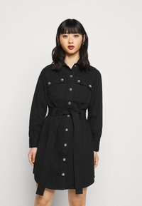 New Look Petite - SIMONE DRESS - Denim dress - black - 0