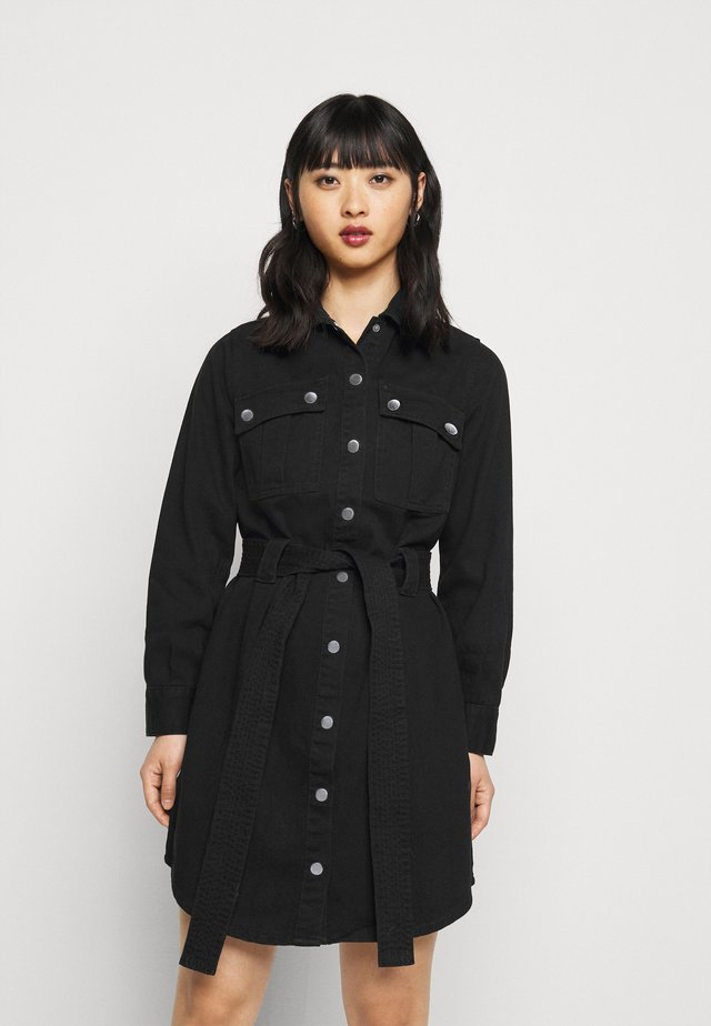 SIMONE DRESS - Denim dress - black