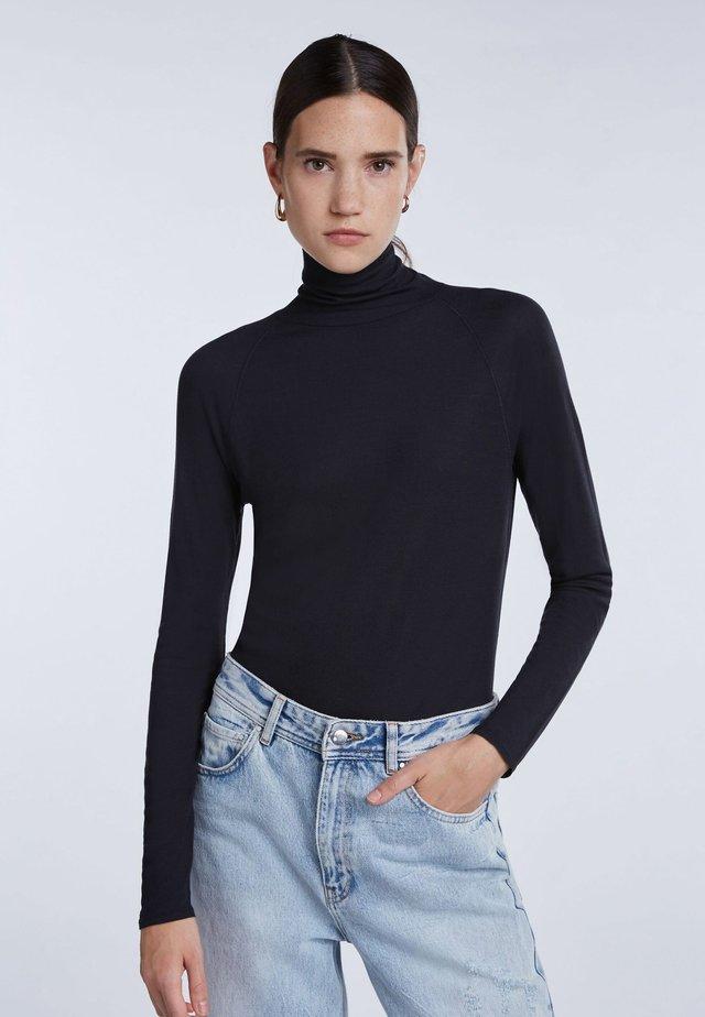 HOCHWERTIGES - Long sleeved top - black