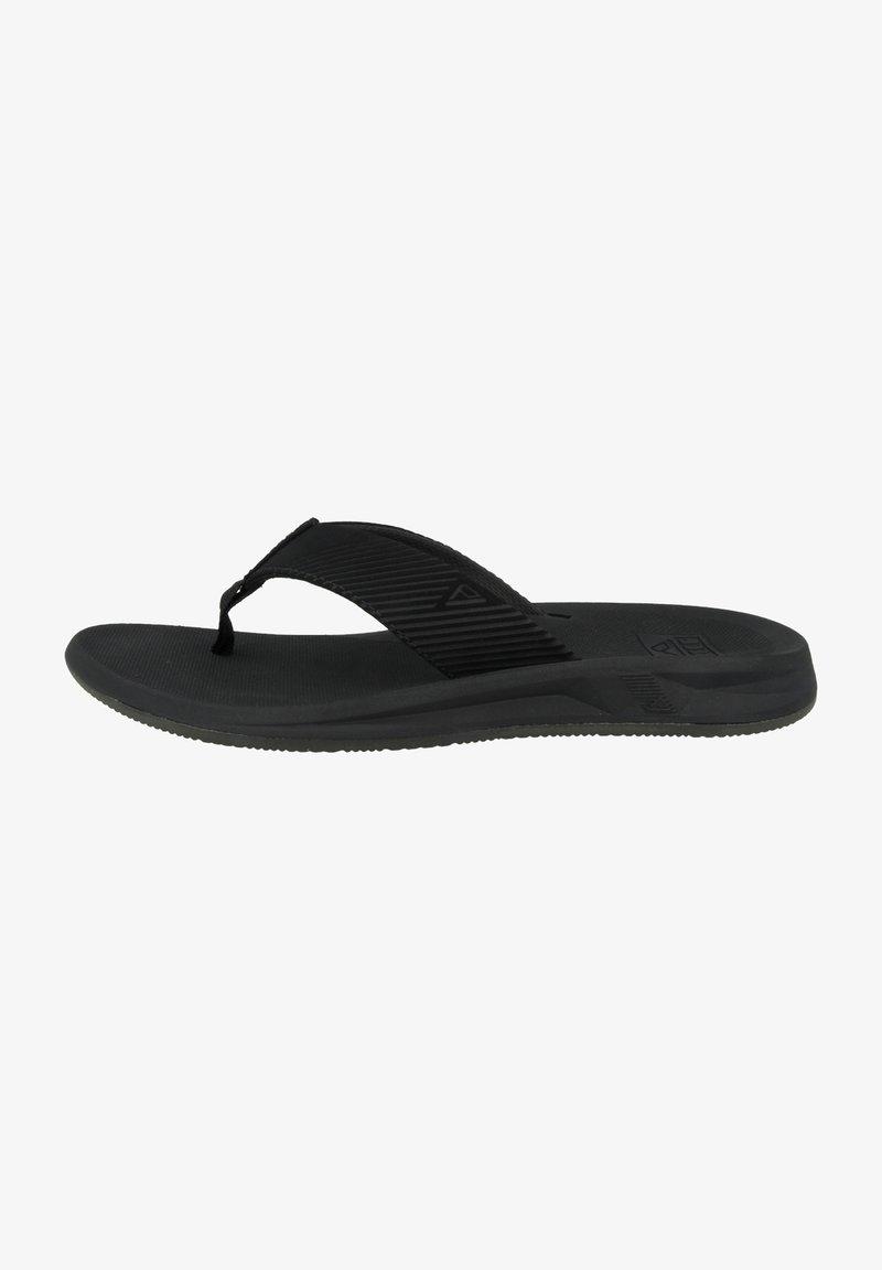 Reef - T-bar sandals - black-black