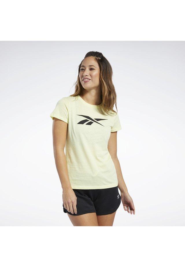 VECTOR GRAPHIC TEE - Print T-shirt - yellow